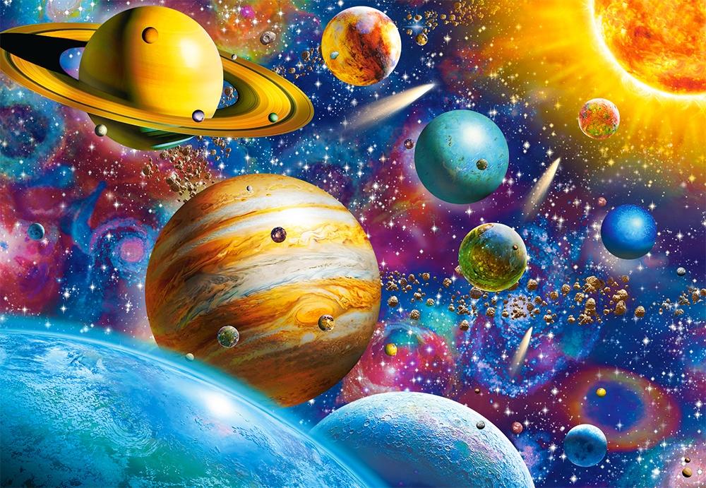 Картинки космос с планетами рисунок