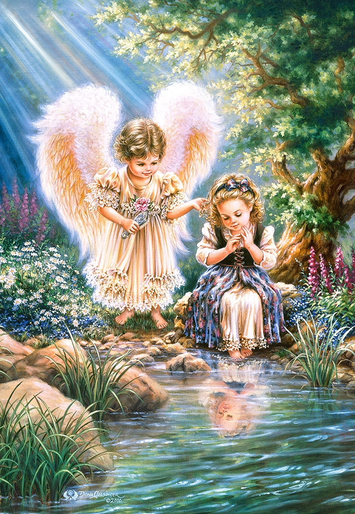 Puzzle Castorland 1500 pieces: angel with girl (C-151660) - buy in ...