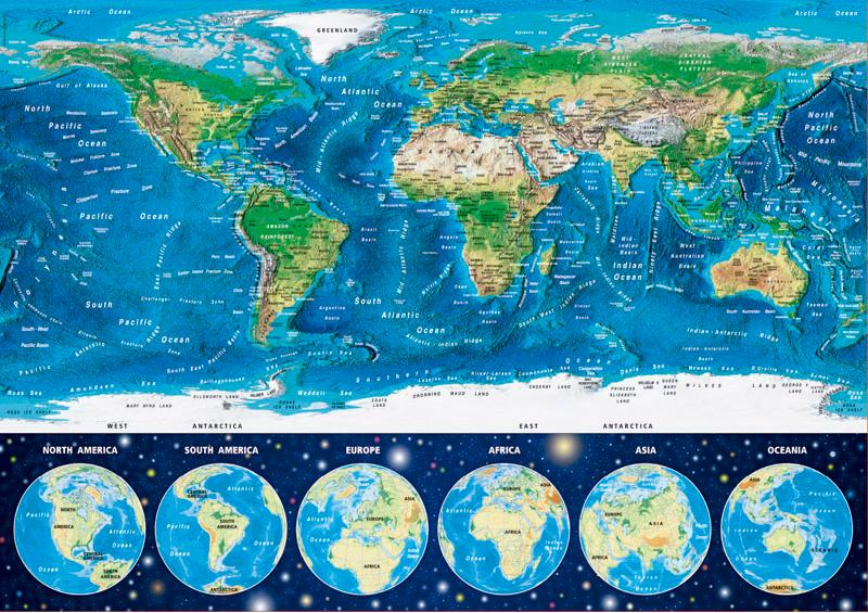 Jigsaw Puzzles With Various Maps