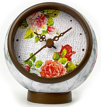 Pintoo clock puzzle 145 details: Flowers and birds КC1046