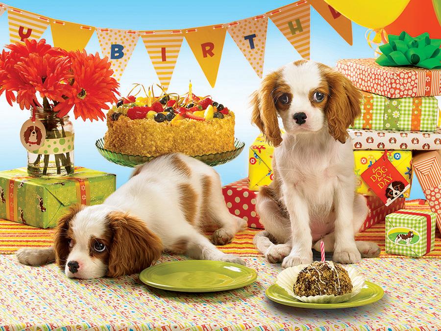 С днем рождения открытка щенок