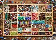 Puzzle Eurographics 1000 pieces: a Collection of beads by Laura
