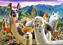 Trefl puzzle 500 pieces: a Llama in the mountains