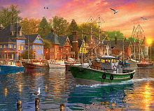 Puzzle Eurographics 1000 pieces: Sunset in the Harbor
