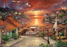 Anatolian jigsaw puzzle 1500 pieces: the Road to the sunset