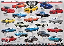 Puzzle Eurographics 1000 pieces: the Evolution of American muscle cars