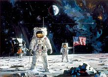 Puzzle Educa 1000 parts: the First men in the moon, Robert McCall