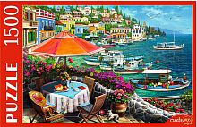 The Red cat puzzle 1500 parts: the seaside promenade
