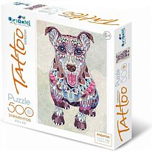 Origami picture puzzle 500 pieces: Art therapy. Dog