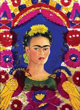 Eurographics 1000 pieces puzzle: self-Portrait with birds, Frida Kahlo