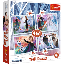 Puzzle Trefl 35#48#54#70 details: In a magical forest