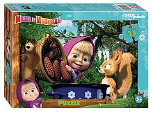 Puzzle Step 35 parts: Masha and the Bear - 2 (Animecon)