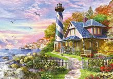 Educa puzzle 4000 pieces: lighthouse on the rock of the Bay
