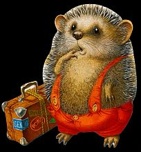 Puzzle wooden 30 items DaVICI: Hedgehog traveler