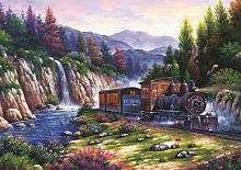 Puzzle Art Puzzle 1000 pieces: train Travel