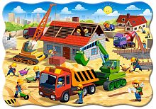 Jigsaw puzzle Castorland 30 pieces: building a house