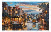 Pintoo 1000 pieces puzzle: E. Lushpin. Evening trams