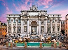 Puzzle Clementoni 500 items: Fountain de Trevi, Rome