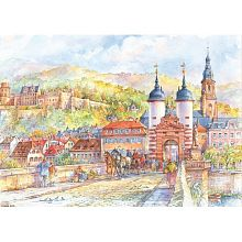 Puzzle 1000 wood Stella Heldeberg, the Castle and the Old bridge