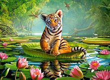 Puzzle Castorland 300 details: the Tiger in lilies