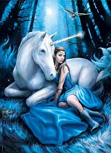 Clementoni puzzle 1000 pieces: the Unicorn. The full moon