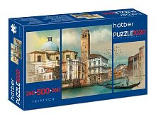 Puzzle Hatber 2х260 and 500 items: Hiking in Europe