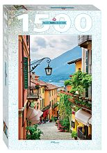 Puzzle Step 1500 parts: Italy. Views of lake Como