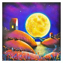 Pintoo 1600 piece puzzle: D. Mundy. Golden Moon River
