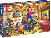 Puzzle Hatber 500 items: Snow white and the dwarves