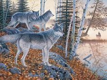 Cobble Hill puzzle 1000 pieces: the Wolves at the edge of the