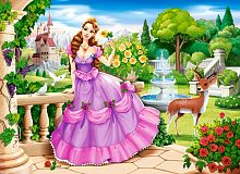 Castorland jigsaw puzzle 100 pieces: Princess in the garden