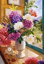 Puzzle Castorland 1000 pieces: still life with hydrangeas