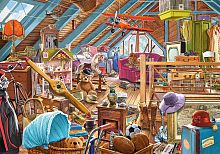 Puzzle Castorland 500 items: Cluttered attic