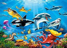Puzzle Castorland 200 details: the Underwater world
