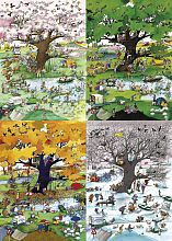 Puzzle Heye 2000 details: Four seasons