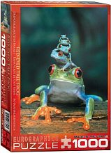Puzzle Eurographics 1000 pieces: the red eyed tree frog