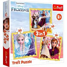 Puzzle Trefl 20#36#50 details: the Power of Anna and Elsa, Frozen 2