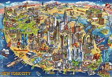 Puzzle Educa 500 items: Map of new York
