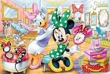 Trefl puzzle 100 pieces: Minnie at the beauty salon