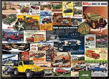 Puzzle Eurographics 1000 pieces: a Collection of commercials jeeps