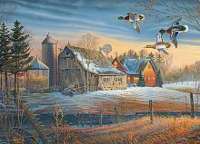 Puzzle Cobble Hill 500 pieces: Circling the farm