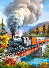 Puzzle Castorland 200 items: railroad