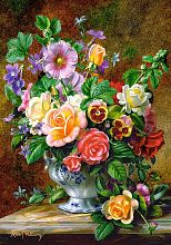 500 Castorland puzzle: flowers in a vase