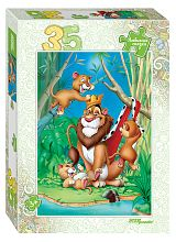 Puzzle Step 35 details: the lion King (Favorite fairy tales)