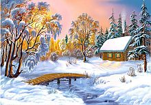 Freys 1000-piece Puzzle: Frosty Evening