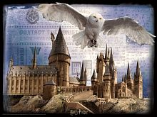 Prime 3D puzzle 500 pieces: Hogwarts and Hedwig