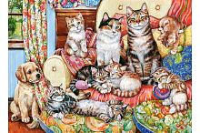 Castorland jigsaw puzzle 300 pieces: Family of kittens