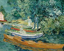 Puzzle Pomegranate 1000 details: Vincent van Gogh. the Bank of the Oise river in Auvers