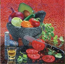 Puzzle Pomegranate 1000 pieces: Eric Vert:still life Food of the gods