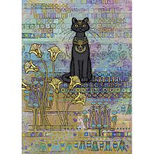 HEYE 1000 pieces puzzle: Egyptian cat with foil, Jane Crowther